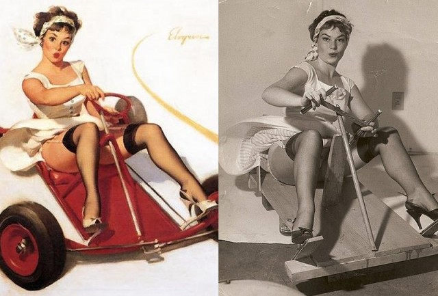 Pinup Girl Paintings with Orginial Photographs  от Kaye за 09 oct 2012