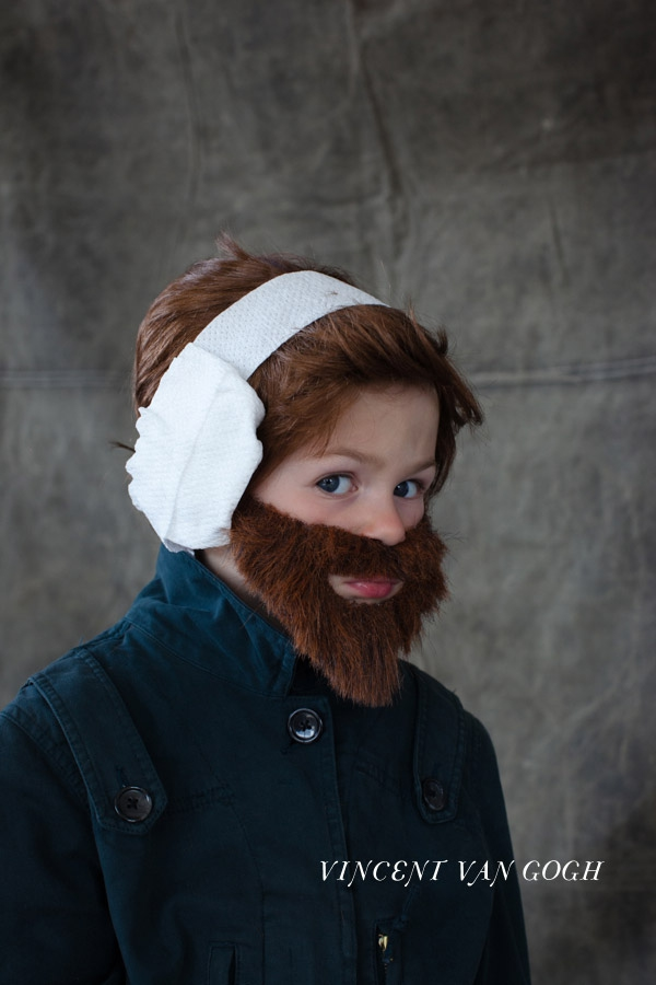 If he really wants to impress his 1st grade teacher he can tell the class he's dressed as post-1888 van Gogh, hence the