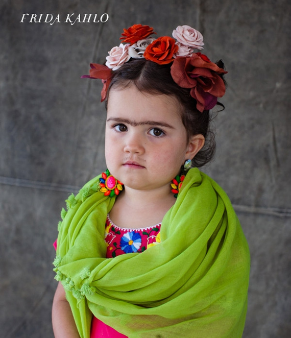 Tiny Frida Kahlo is not enjoying her unibrow.
