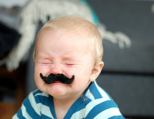 Amazing New Fad Alert: Babies with 'staches! от mick за 12 oct 2012
