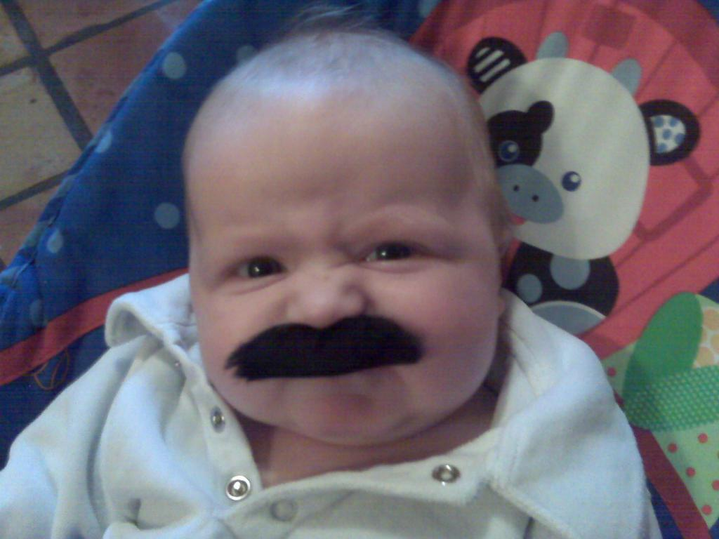 Amazing New Fad Alert: Babies with 'staches!