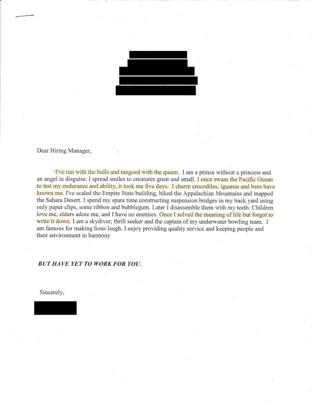 Most Awesome Cover Letters On The Internet