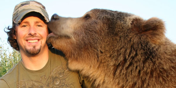 Casey understands the risks of having a grizzly bear for a best friend, but wouldn't have it any other way.