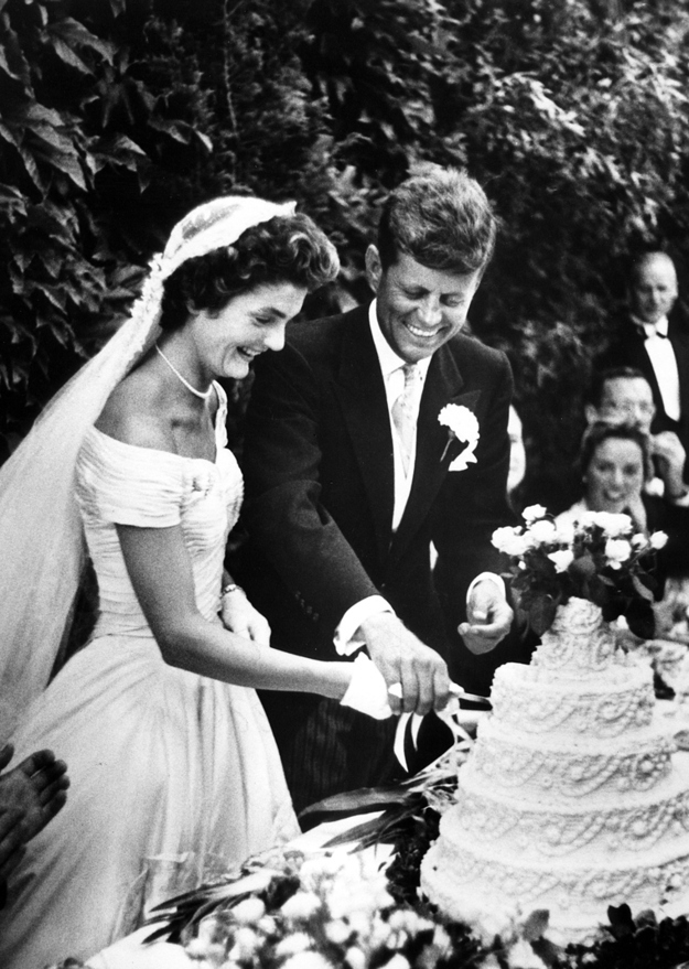 John and Jaqueline Kennedy