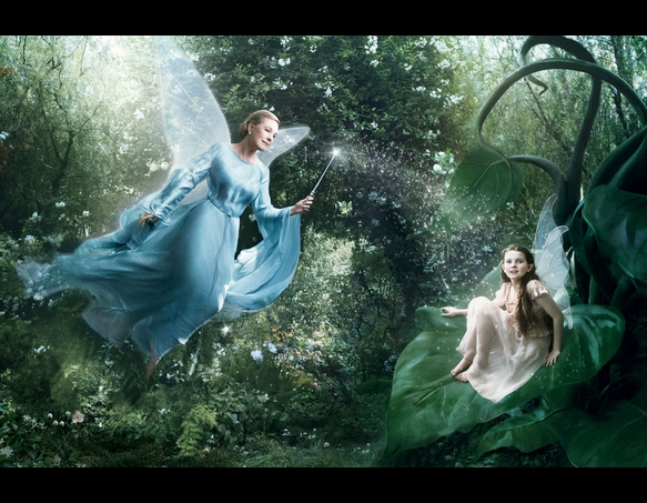 Julie Andrews as the Blue Fairy and Abigail Breslin as Fira