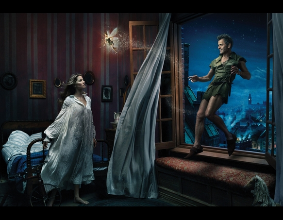 Giselle Bundchen as Wendy, Mikhail Baryshnikov as Peter Pan, and Tina Fey as Tinkerbell