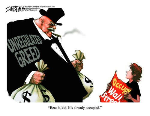 Occupy Wall Street Political Cartoons