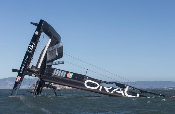 Team Oracle's Flipped Catamaran