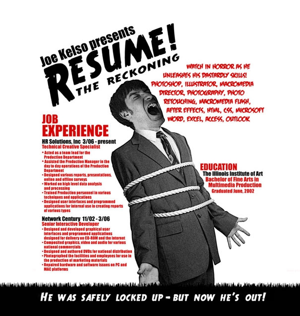 Awesome Creative Resumes от mick за 19 oct 2012