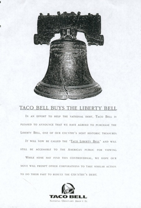 Taco Bell Pretends to Buy the Liberty Bell