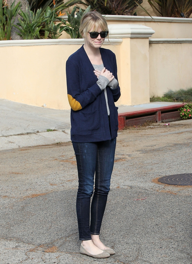 Emma Stone Politely Asks For The Paparazzi To Leave Her Humble Abode