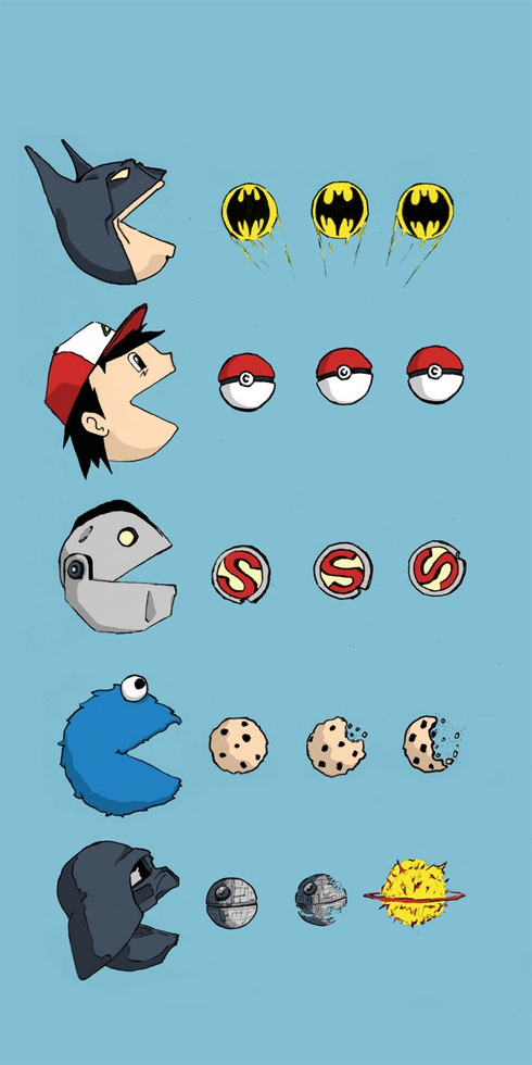 Famous Characters As Pac-Man