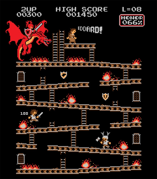Donkey Kong Re-imagined With Famous Characters от Veggie за 23 oct 2012