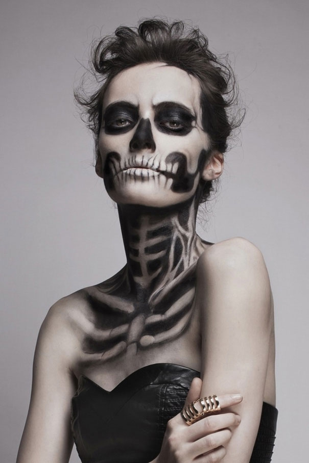Creepy Skeletal Make-up