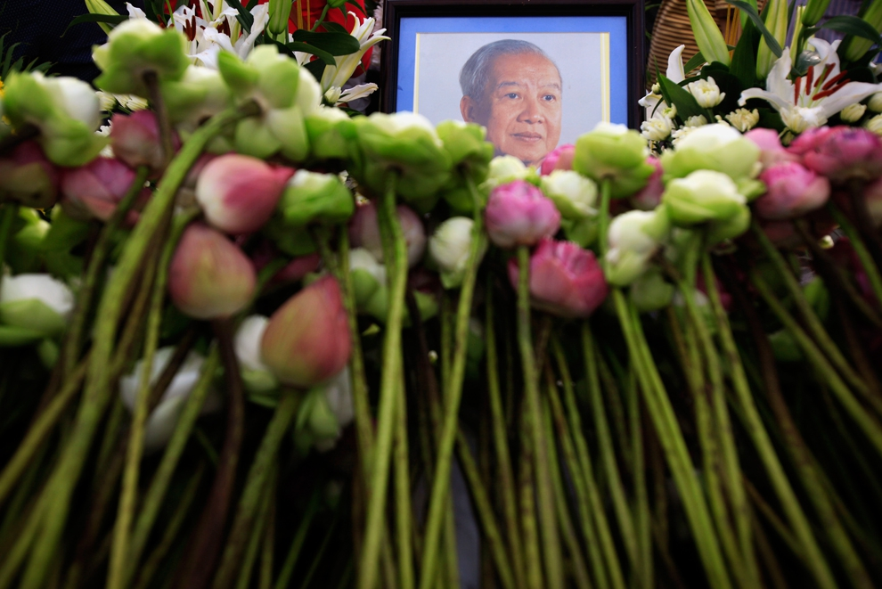 King Norodom Sihanouk mourned