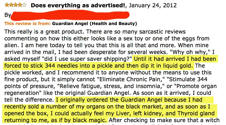 Best Amazon Reviews Of All Time от Veggie за 28 oct 2012