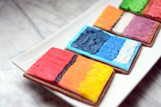 Pretty Art-Inspired Cookies