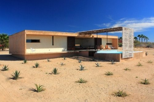 Todos Santos modern house built by Gracia Studio