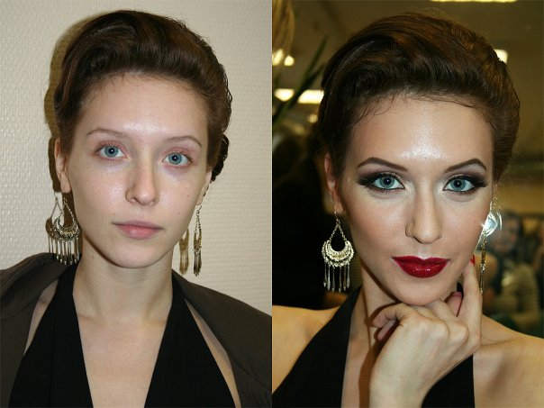 Before and After: What a difference makeup can make