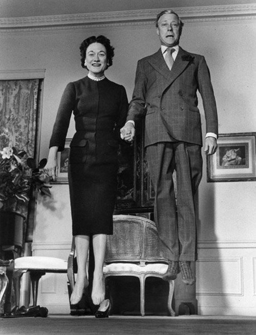 The Duke and Duchess of Windsor jumping in their sock feet. Photo by Philippe Halsman, 1959