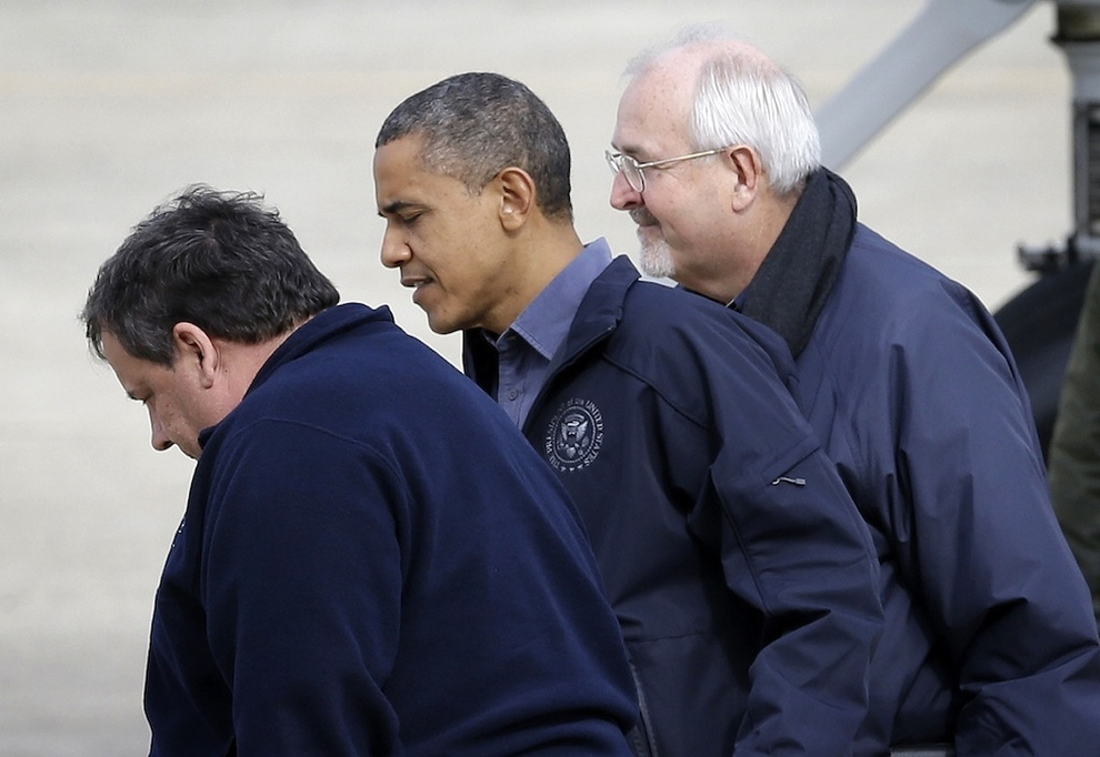 President Obama And Chris Christie Tour Storm Damage от Kaye за 31 oct 2012