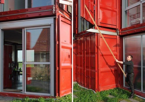House made entirely of containers