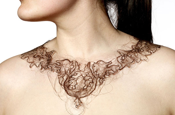 Human Hair Necklaces by Kerry Howley | Bored Panda от mick за 01 nov 2012