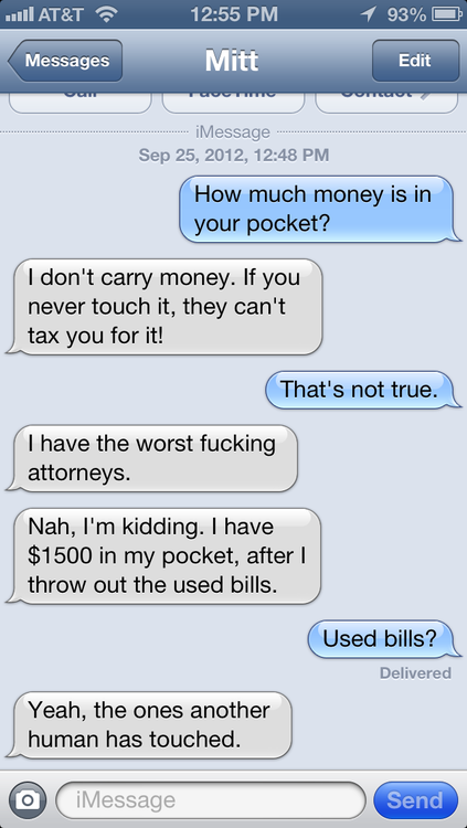 Texts from Mitt Romney