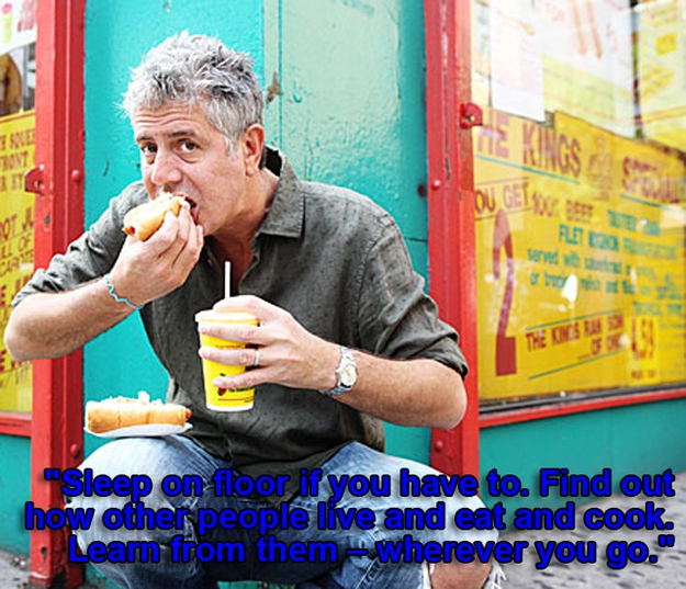 Life Advice from Anthony Bourdain