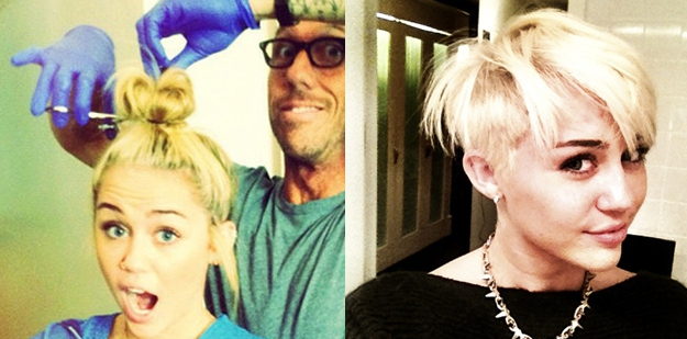 September 2012: Miley chops her hair off