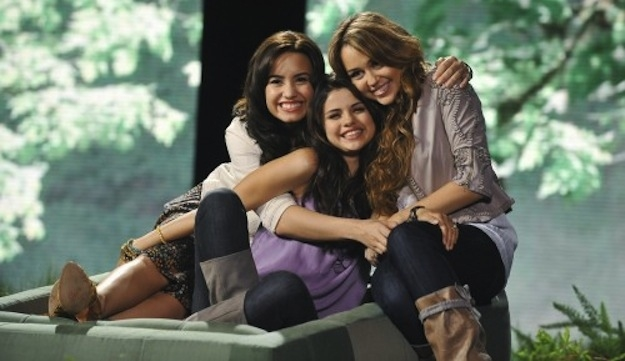 July 2008: Miley and BFF Mandy mock Selena Gomez and Demi Lovato in YouTube video