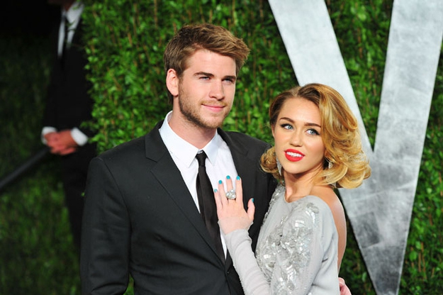 June 2012: Miley gets engaged to Liam Hemsworth
