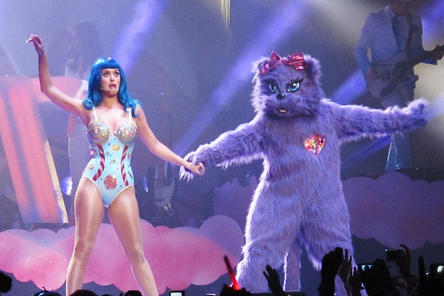 Kitty Purry is a regular part of Katy's live show.