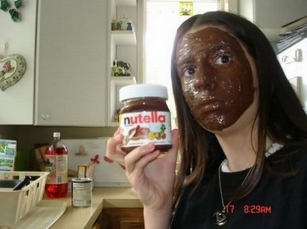 Nutella should be eaten, not worn