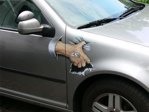 Perfectly good cars vandalized and ruined by Art от Veggie за 06 nov 2012