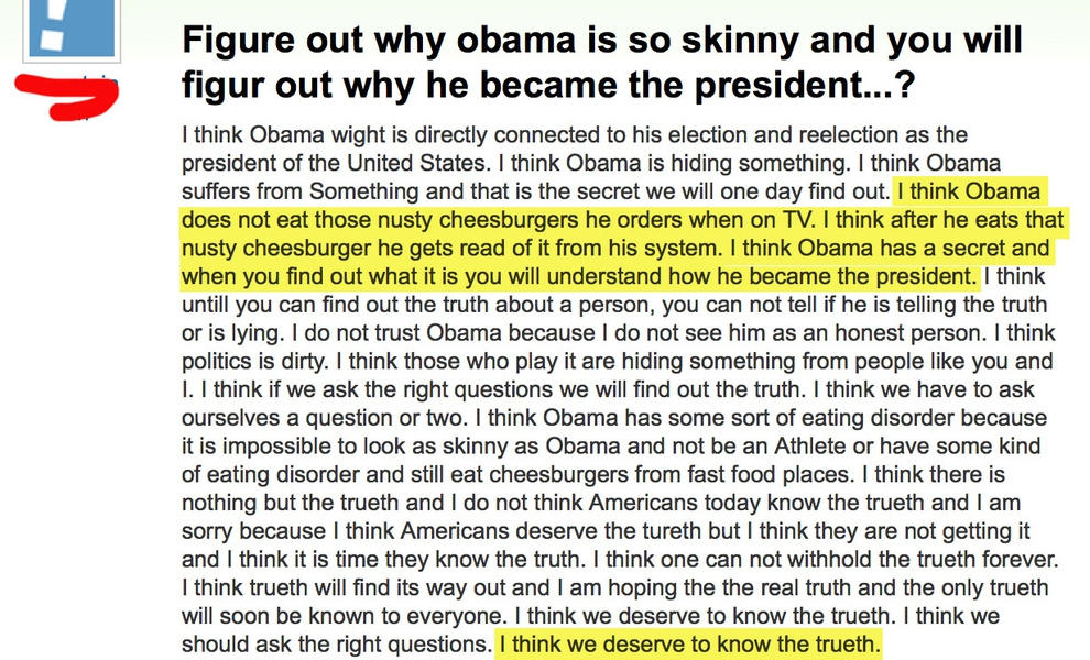 Yahoo! Answers is Home to the Stupidest Election Questions от Kaye за 07 nov 2012