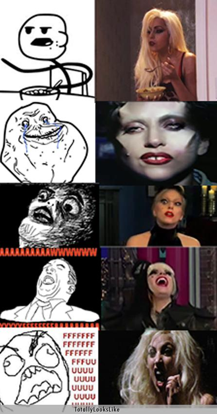 Lady gaga as Rage comics