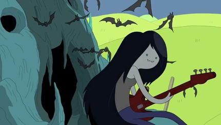 Marceline, the Vampire Queen, doesn't suck blood to feed.