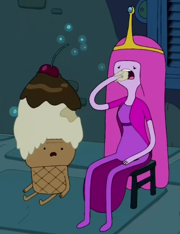 Princess Bubblegum is Candy Kingdom's ruler. She sometimes eats her subjects.