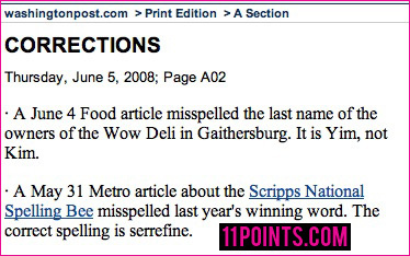 Funniest Newspaper Corrections от Veggie за 08 nov 2012