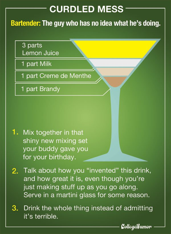 College Bartender's Guide
