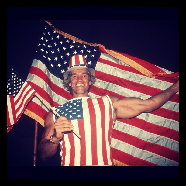Arnold Schwarzenegger Tweeted This Patriotic Photo от mick за 12 nov 2012