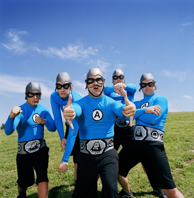 Travis Barker used to be the drummer for The Aquabats.