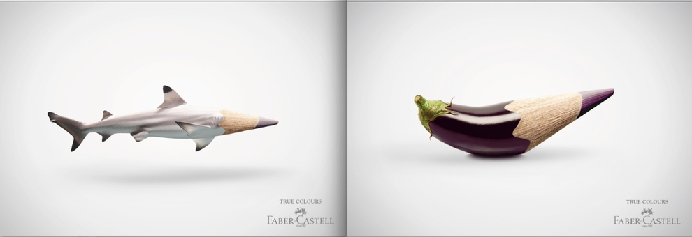 Faber-Castell colored pencils.
