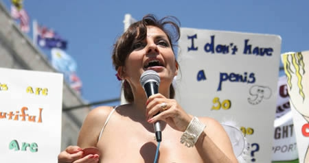 There is a NGO that fights for women's right to be topless
