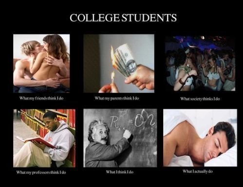 The good old days: College