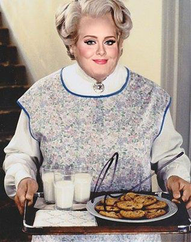 Adele as 'Mrs. Doubtfire' Will Make Your Day