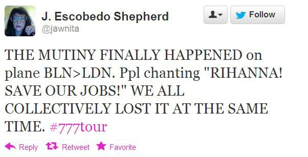The Most Desperate Tweets from Rihanna's 777 Tour от Veggie за 19 nov 2012