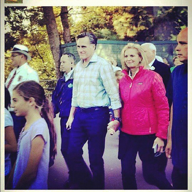 Mitt Romney Goes To Disneyland