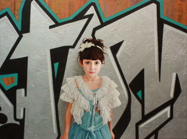 Angelic Portraits Of Girls Surrounded By Graffiti